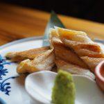 「和食屋 げん月」のお薦め3品は、旬の魚のパイ包み焼き、豚たんの大和煮、あなごの白焼き梅肉
